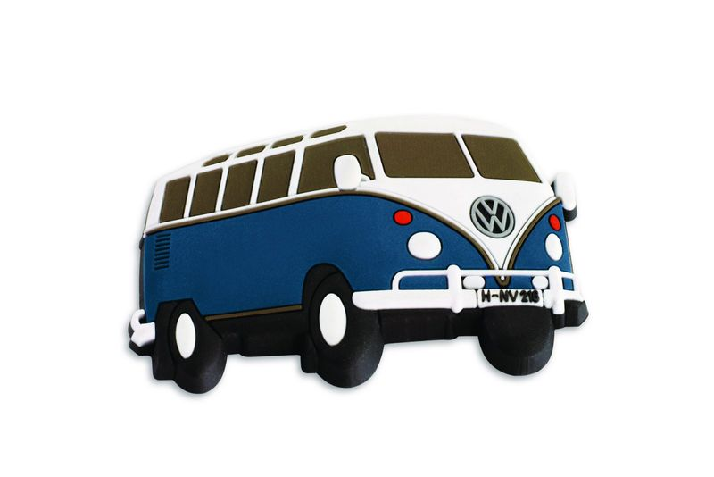 original vw t1 bulli k hlschrankmagnet blau f r sammler 3d. Black Bedroom Furniture Sets. Home Design Ideas