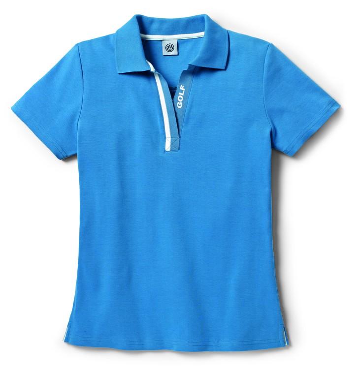 original vw golf kollektion polo shirt blau damen gr m 5g0084240b d5e accessoires. Black Bedroom Furniture Sets. Home Design Ideas