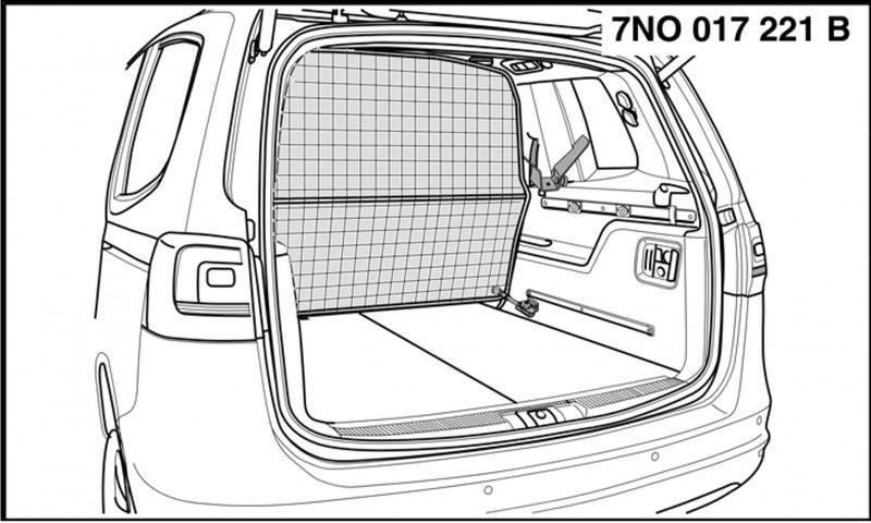 Kofferraum Trenngitter VW Sharan – Bild 1