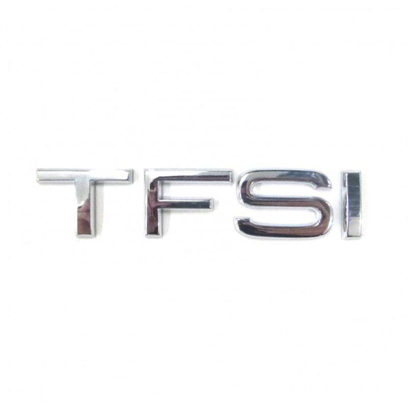 TFSI Schriftzug chrom Heck Selbstklebend