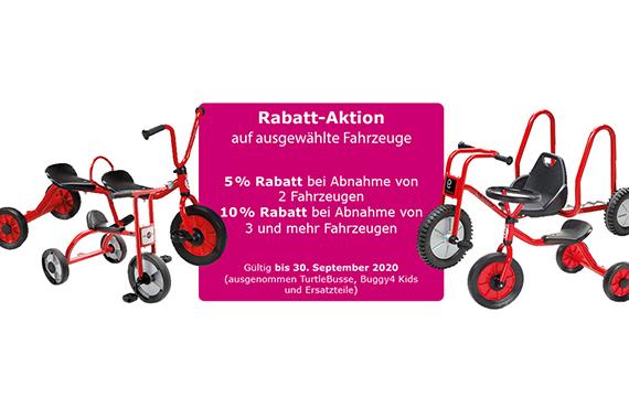 Rabatt-Aktion Fahrzeuge für Kinder