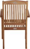 Premium Teak Massivholz Gartenstuhl stapelbar ARLINGTON von PLOSS Bild 5