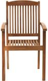 Premium Teak Massivholz Gartenstuhl stapelbar ARLINGTON von PLOSS Bild 2