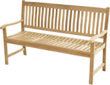 Premium Teak Massivholz Gartenbank NEW HAVEN 150 cm PLOSS 001