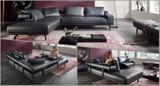 HUKLA Design Plansofa Ecksofa Couch HP1804 in Stoff + Leder Bild 3
