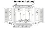 4-türig Massivholzschrank Dielenschrank LAGUNA weiss/antik Bild 5