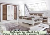 Massivholz Doppelbett Bettgestell LAGUNA 160x200 weiss/antik Bild 2
