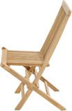 Teak Massivholz Gartenstuhl klappbar MILFORD von PLOSS Bild 3