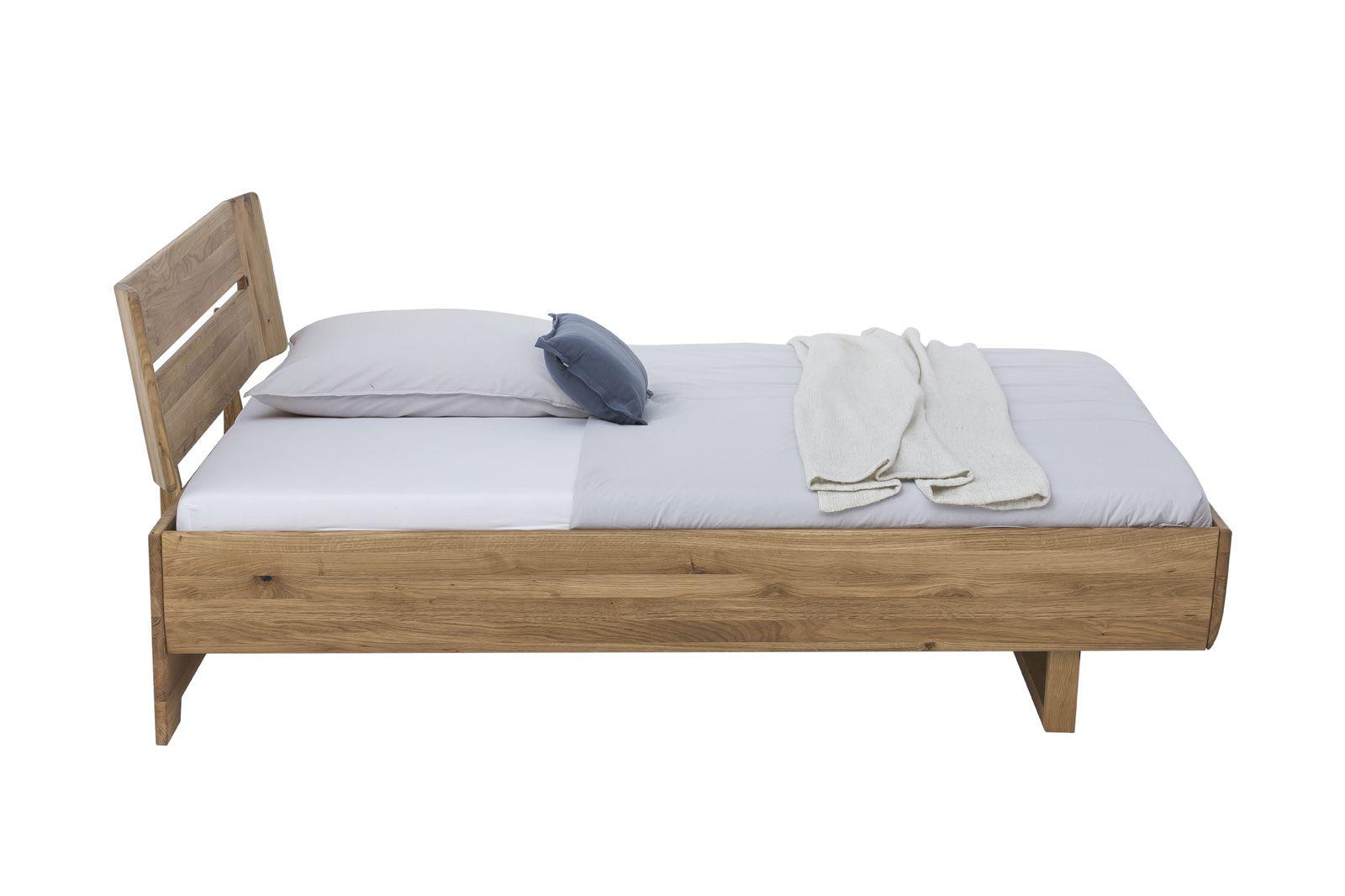 Massivholz Bett HOVER 12x12 Wildeiche geölt