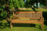 Teak Massivholz Gartenbank NEW HAVEN 130 cm PLOSS 001