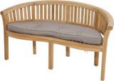 Sitzpolster KENIA halbrund braun Bild 1