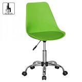 AMSTYLE KORSIKA | Drehstuhl Kunstleder Grün | Drehsessel Wartezimmerstuhl | Schreibtischstuhl Rückenlehne verstellbar Bild 2