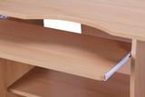 WOHNLING Computertisch DIANA rollbar Buche 90 x 71 x 50 cm mit Tastaturauszug | Laptop Tisch auf feststellbaren Rollen | PC-Tisch mit Drucker-Ablage platzsparend | Schreibtisch für kleine Räume  Bild 7