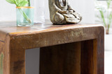 WOHNLING Beistelltisch DELHI 45 x 40 x 55 cm Massiv-Holz Mango Recycling Shabby | Kleiner Wohnzimmertisch | Nachttisch Bootsholz Nachtkonsole   Bild 5