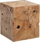 Unikat Massivholz Beistelltisch ARCO Teakholz 001