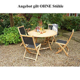 Teak Massivholz Klapptisch LEXINGTON Ø 120 cm PLOSS 004