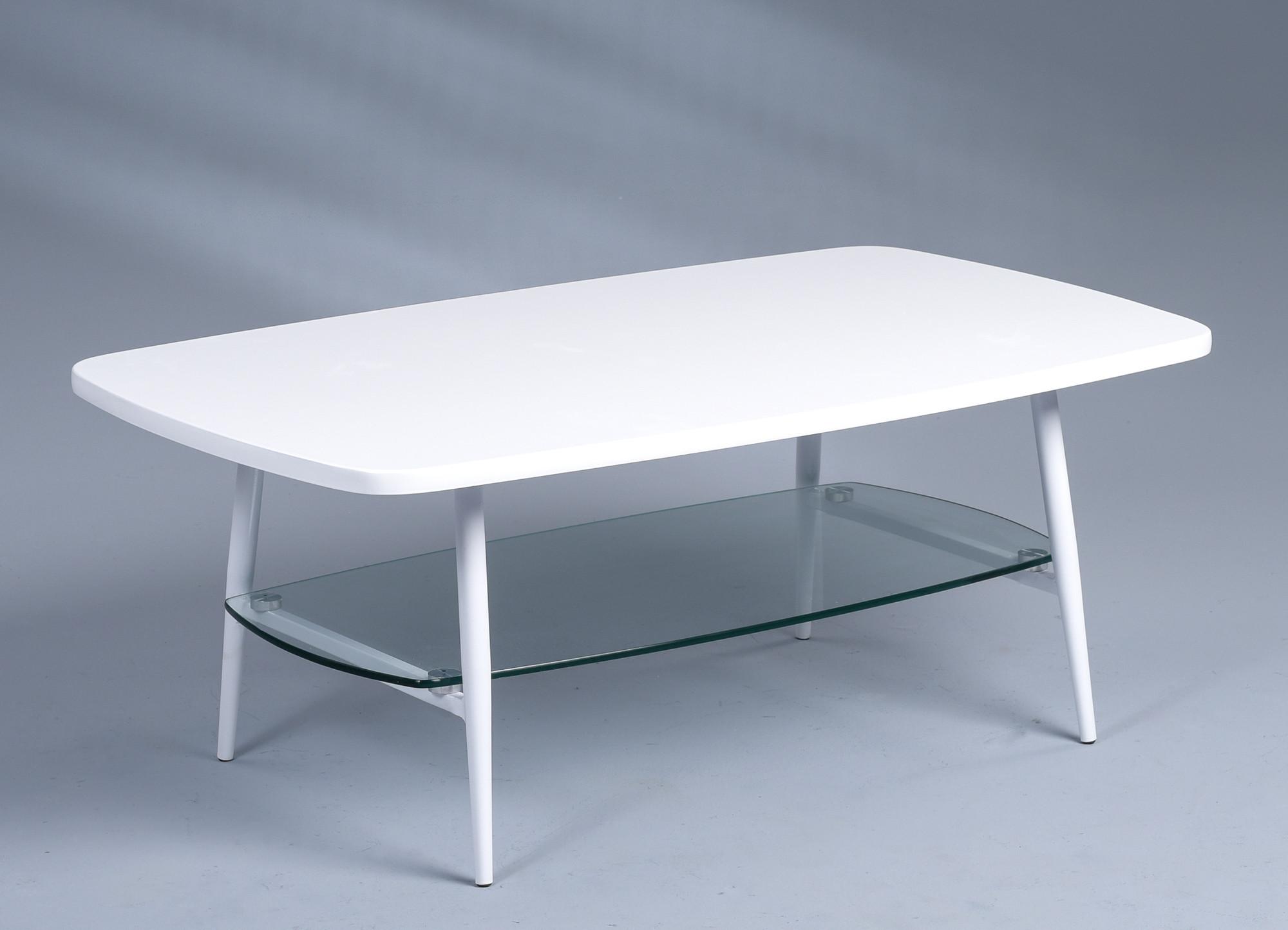 couchtisch girona 100x38x60 mdf glas metall. Black Bedroom Furniture Sets. Home Design Ideas
