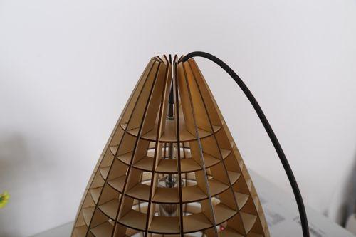 Designer Hängelampe Aus Holz Hängeleuchte Holz Pendellampe Deckenleuchte Sale Bild 10