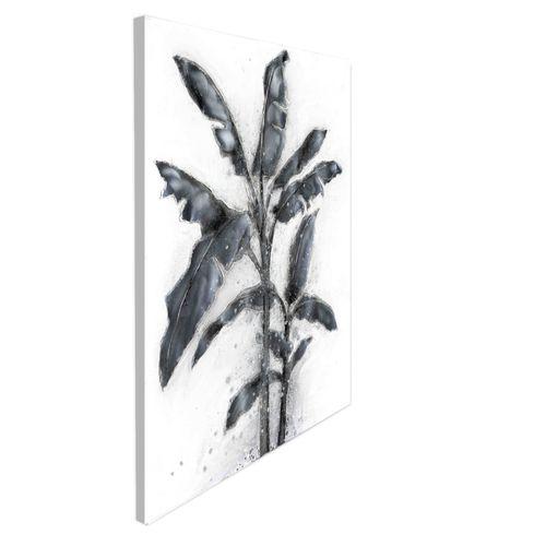 Wandbild Palmen Motiv Handarbeit Design Ölfarbe Silber Ölgemälde 80X100 Bild 2