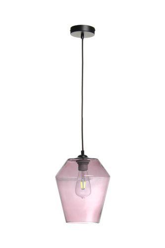 Deckenleuchte Lampe Glas Hängeleuchte Pendelleuchte Schwarz Glas Lila Angebot Bild 4