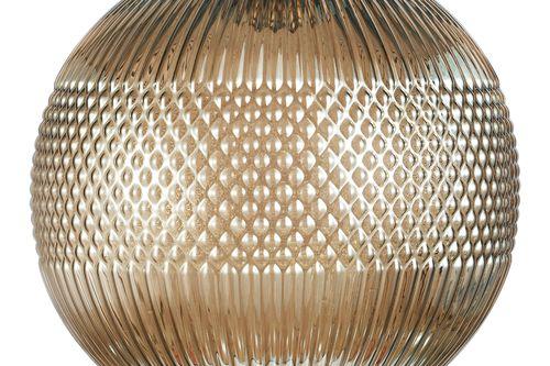 Design-Pendelleuchte Glashängeleuchte Deckenlampe Grau Kupfer Glas Goldgrau Bild 9