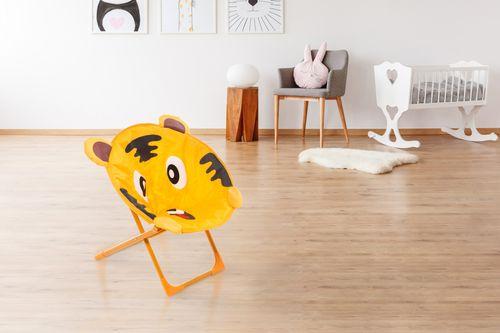 Kinderstuhl Tiger Motiv Für Indoor Outdoor Kinderstühle Orange Braun Weich Neu Bild 3