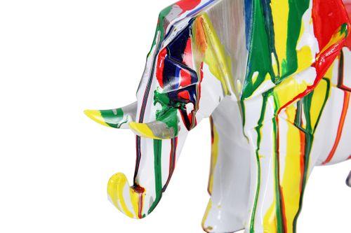 Dekofigur Elefant Skulptur Statue Figur Deko Splash Bunt Bild 5