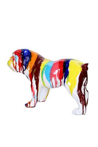 Dekofigur Splash Bunt Farbverlauf Hund Dogge Dekoration Skulptur Statue Bild 3