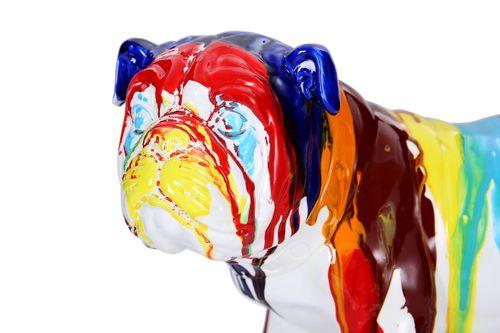 Dekofigur Splash Bunt Farbverlauf Hund Dogge Dekoration Skulptur Statue Bild 5