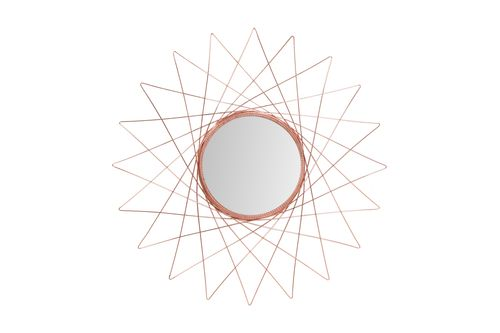 Kupfer Spiegel Wandspiegel Sonnenspiegel Dekospiegel