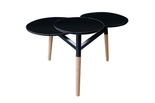 Tische Tabletttisch Handgefertigt Mit Hochglanzbeschichtung Bambus Schwarz Bild 3
