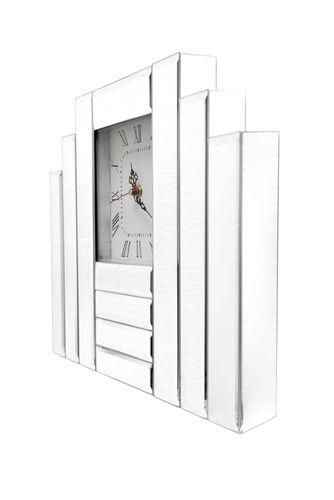 Spiegel Uhr Standuhr Dekouhr Wohnzimmer 002