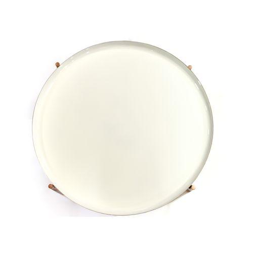 Wohnzimmertisch Beistelltisch Couchtisch Nachttisch Ablagetisch Weiß Kupfer Bild 2