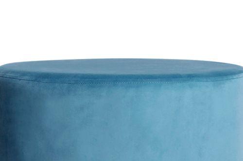 Samt Hocker Designer Hocker Sitzhocker Polsterhocker Gold Pastell Blau Hellblau Bild 3