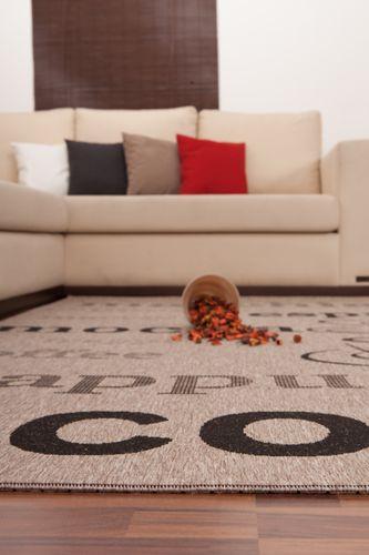 Teppich Sisal Optik Klassisch Modern Kaffee Design Geflochten Grau Schwarz Wohnzimmerteppich Esszimmerteppich Teppichläufer Flur-Läufer Verschied. Farben 004