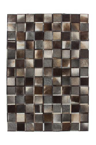 Teppiche 100% Leder Flachgewebe Handgefertigt Grau Ca. 8 Mm Pixel Kasten Design Wohnzimmerteppich Esszimmerteppich Teppichläufer Flur-Läufer Verschied. Farben 003