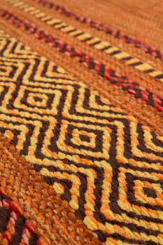 Teppich Handgewebt 100% Baumwolle Teppiche Flachflor Antik-Look Streifen Terra Wohnzimmerteppich Esszimmerteppich Teppichläufer Flur-Läufer Verschied. Farben 004