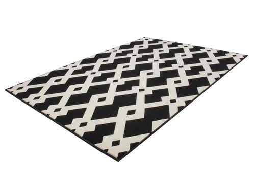 Teppich Modern Flachflor Geometr. Muster Teppiche 3D-Effekt Schwarz Weiß Wohnzimmerteppich Esszimmerteppich Teppichläufer Flur-Läufer Verschied. Farben 004