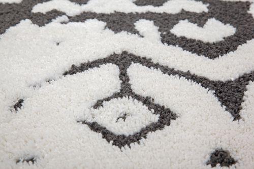 Hochflor Teppich Modern Weich Teppich Ethno Design Fransenteppich Weiß Schwarz Wohnzimmerteppich Esszimmerteppich Teppichläufer Flur-Läufer Verschied. Farben 004