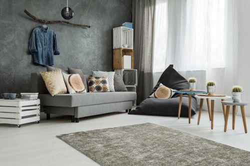 Handgewebter Teppich Handgefertigt Vintage Design Modern Silber Grau Wohnzimmerteppich Esszimmerteppich Teppichläufer Flur-Läufer Verschied. Farben 003