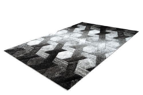 3D Teppich Modern Design Teppiche Wohnzimmer Schwarz Weiß Grau Wohnzimmerteppich Esszimmerteppich Teppichläufer Flur-Läufer Verschied. Farben Bild 2