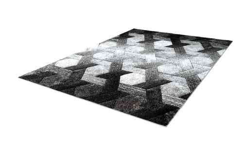 3D Teppich Modern Design Teppiche Wohnzimmer Schwarz Weiß Grau Wohnzimmerteppich Esszimmerteppich Teppichläufer Flur-Läufer Verschied. Farben
