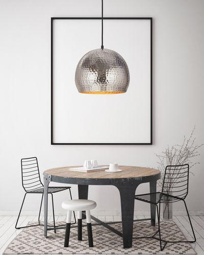 Pendelleuchte Hängeleuchte Deckenleuchte Deckenlampe Hängelampe Silber Nickel 002
