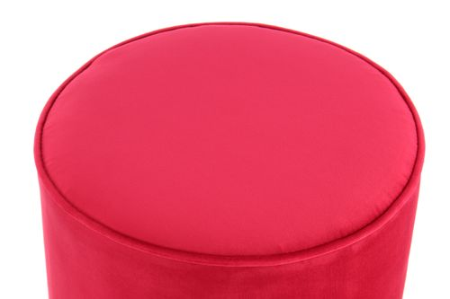 Samthocker Samt Pouf Hocker Gold Metallfuß Messing Sitzhocker Pink Rot 003