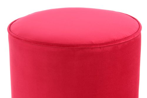 Samthocker Samt Pouf Hocker Gold Metallfuß Messing Sitzhocker Pink Rot 006