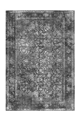 Arte Espina Teppich Vintage Oriental Muster Design Aubousson Schwarz Grau Wohnzimmerteppich Esszimmerteppich Teppichläufer Flur-Läufer Verschied. Farben Bild 2