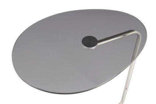 Beistelltisch Ablagetisch Kaffeetisch Glasplatte Metallgestell Grau Silber Bild 7