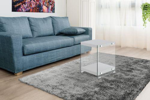 Ablagetisch Couchtisch Beistelltisch Tisch Edel Design Holz Glas Grau Bild 4