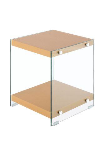 Ablagetisch Couchtisch Beistelltisch Tisch Edel Design Holz Glas Gold