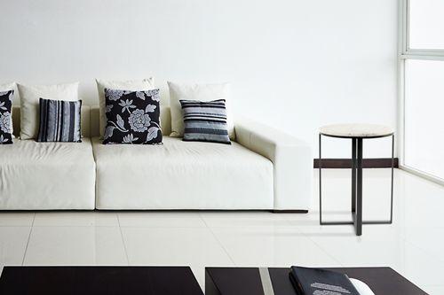 Ablagetisch Beistelltisch Nachttisch Wohnzimmer Tisch Marmor Weiß Bild 3